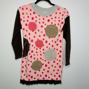 Lemon Loves Limes Dress Size 10 Girls Brown Pink